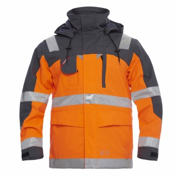"Engel - Parka Shell-Jacke ""SAFETY"" L / 10 Orange"