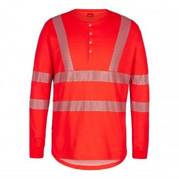 """Engel - Langärmeliges T-Shirt mit Knöpfen """"SAFETY"""" L / 10 Orange"""