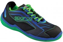"SPARCO-Halbschuh ""TOURING L"" Black-GREEN S1P"