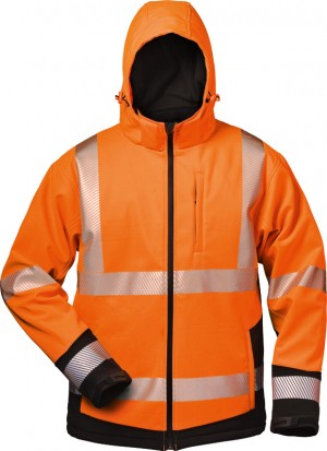 Warnschutz-Winter Softshell Jacke mit Kapuze LUKAS