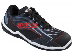"SPARCO-Halbschuh ""TOURING L"" Black-Red S1P"