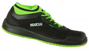 "Sparco-Halbschuh ""LEGEND"" black-green, S1P ESD"