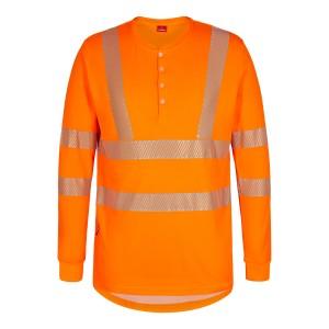 """Engel - Langärmeliges T-Shirt mit Knöpfen """"SAFETY"""""""