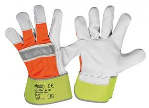 "Rindvollleder-Handschuhe ""HI-VIS"" (Karton)"