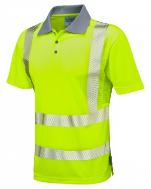 """CoolViz-Plus"" - Polo-Shirt ""WOOLACOMBE"" EN 20471 Kl. 2"