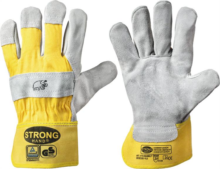 """Rindspaltleder-Handschuhe """"MAMMUT"""" (12er Pack) 7"""