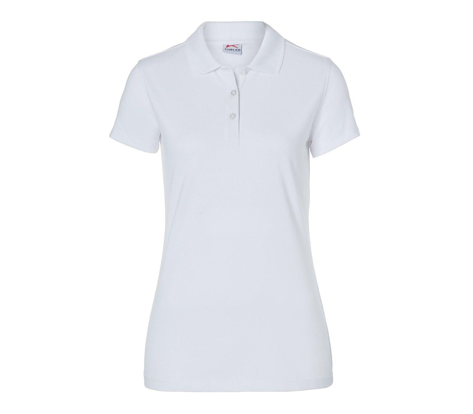 """Kübler- Damen Polo-Shirt """"5026"""" L / 10 - Weiß"""
