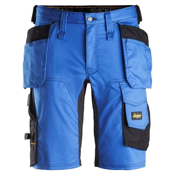 """Snickers- Stretch Shorts """"ALLROUND WORK"""" mit Holstertaschen 50 / 5604 True Blue/Black"""