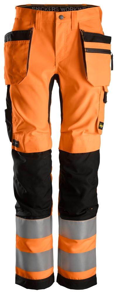 """Snickers-Damen-High-Vis Arbeitshose """"ALLROUND WORK"""" 38 / 5504-High Vis Orange-Black"""