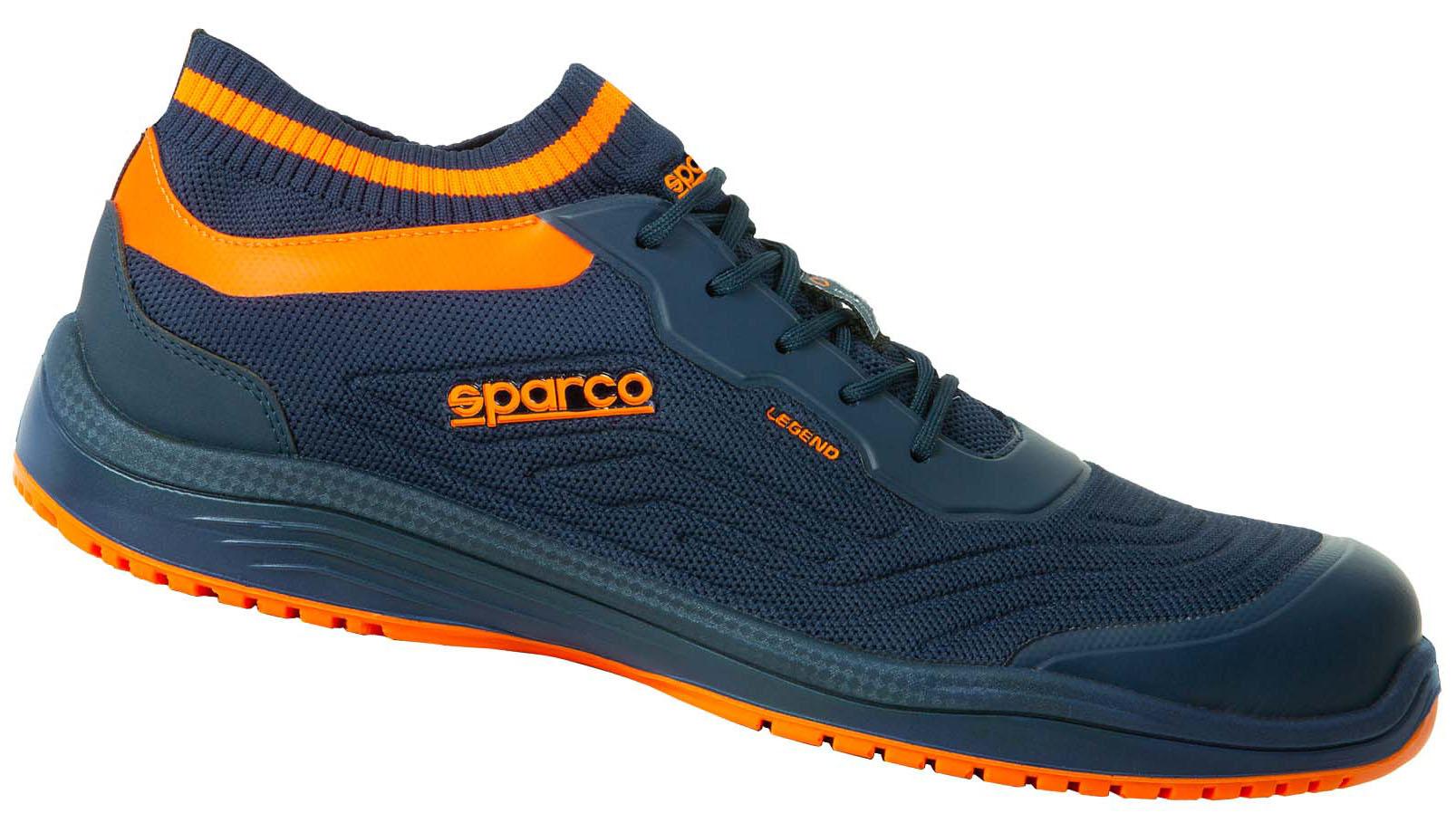 "Sparco - Halbschuh ""LEGEND"" blue-orange, S1P ESD 46"