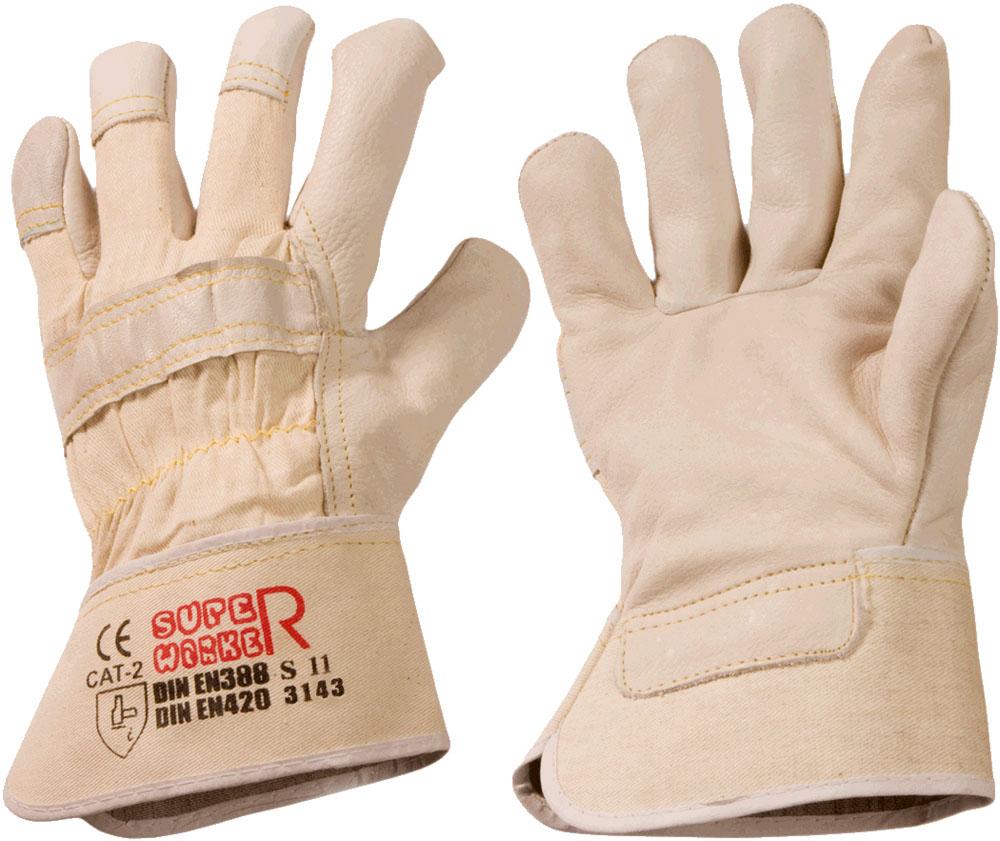 """Profi-Rindvollleder-Handschuh """"SUPER WORKER """" (Karton) 8"""