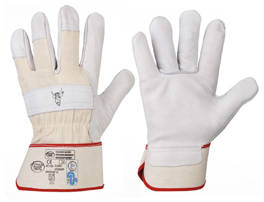 "Rindspaltleder-Handschuhe ""STIERKOPF"" (12er Pack) 8"